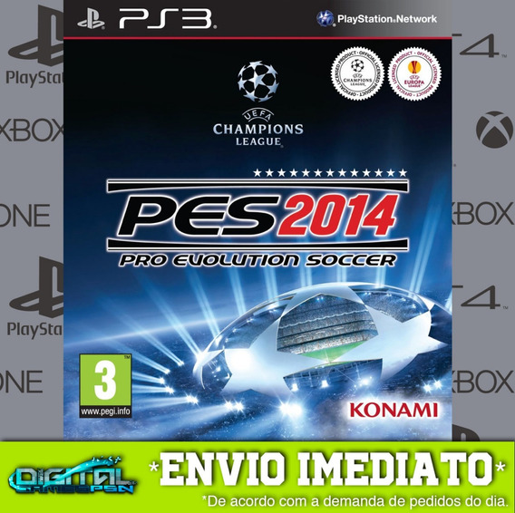 Pro Evolution Soccer 2014 Ps3 Midia Digital Envio Hj!