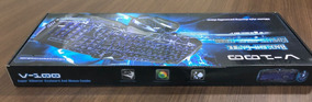 Kit Teclado Mouse Gamer Luminoso Neon Alta Precisão Jogo K65