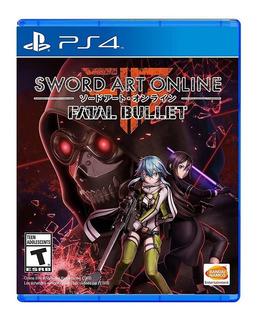 Sword Art Online Fatal Bullet Ps4 Nuevo Fisico Sellado