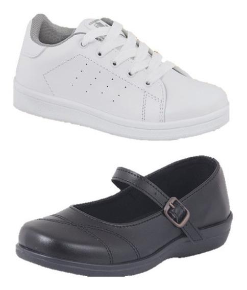 Zapatos Niña Escolares Formal Y Tenis 2 X 1 Cklass Incluye 2