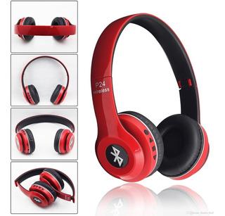 Auriculares Bluetooth P24 Lee Microsd, Funciona Cableado