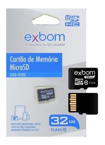 Cartão De Memoria Exbom 32gb Micro Sd Tf32g