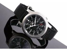 Relógio Seiko 5 Estilo Militar Automático Snk809 Original