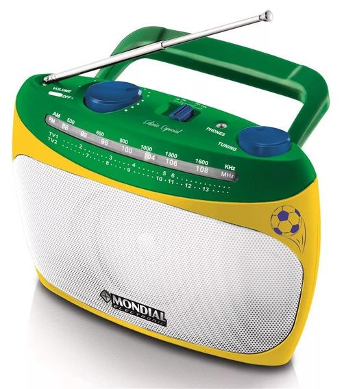 Rádio Portátil Mondial Rp-02 Am/fm Sincronizador De Canal