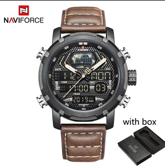 Relógio Naviforce Masculino Esportivo Militar Original Luxo