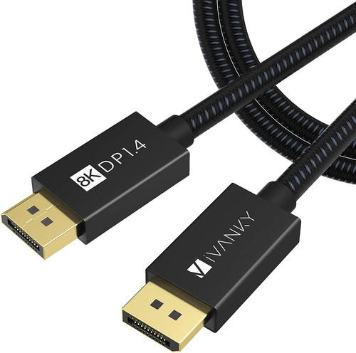 Cable Displayport 1.4 Alta Velocidad 4k A 144hz 8k 60hz