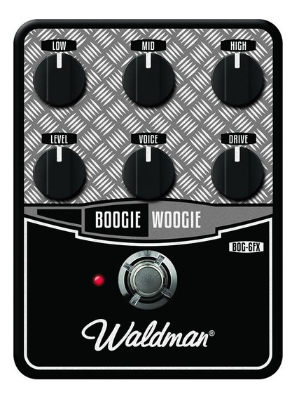 Bog-6fx Waldman Pedal De Guitarra Distortion Boogie Woogie