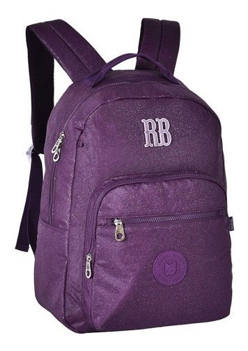 Mochila Escolar Notebook Glitter Rebecca Bonbon | Rb2079