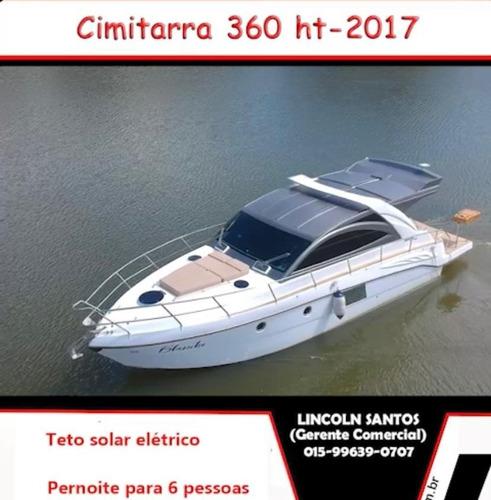 Lancha Cimitarra 36,  360 Ht 2017 Parelha Diesel Joystick