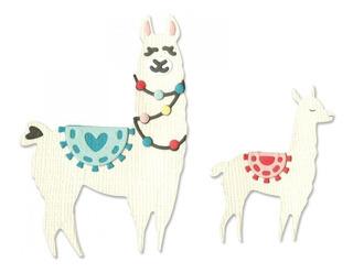 Suaje Cortar Troquel Animal Llama Mama Bebe Tarjeta