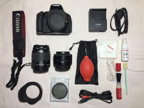 Canon T3i Kit Completo+lente 50mm+kit Limpeza+acessórios