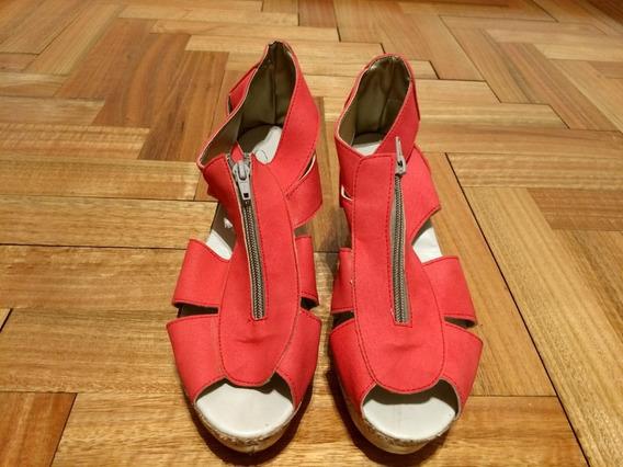 Zapatos De Mujer Excelente Estado Color Coral Talle 39
