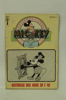Hq Mickey 60 Anos N°1 Editora Abril Gibi Wall Disney