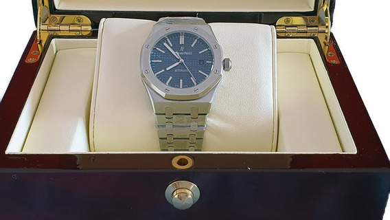 Reloj Tipo Audemars Piguet Royal Oak Acero Azul 583150svbl