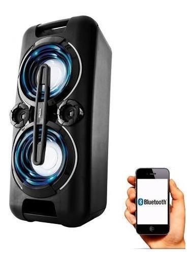 Caixa Som Dual Usb Cartao Bluetooth 150w Rms Potente Philco