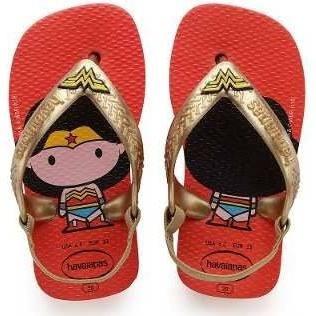 Chinelo Infantil Baby Heróis Vermelho Havaianas - 4139475