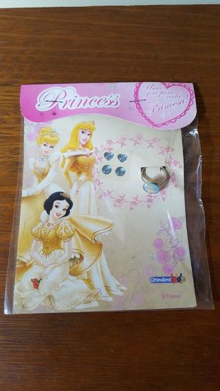 Lote 25 Kit Princesa Criança Anél Cinderela E Brincos