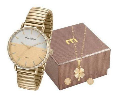 Kit Relógio Mondaine Feminino 99160lpmvde1k1