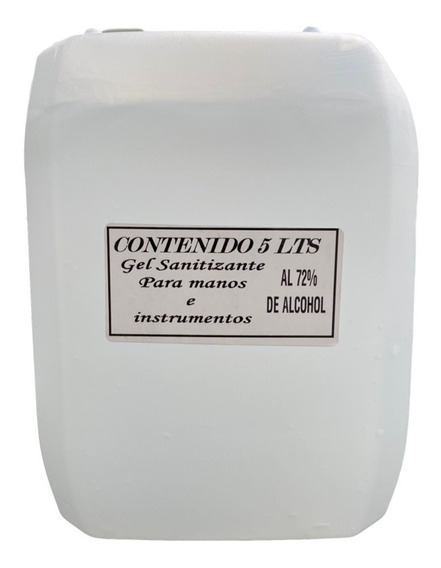 Gel Antibacterial 72% Desinfectante Preventivo 5 L