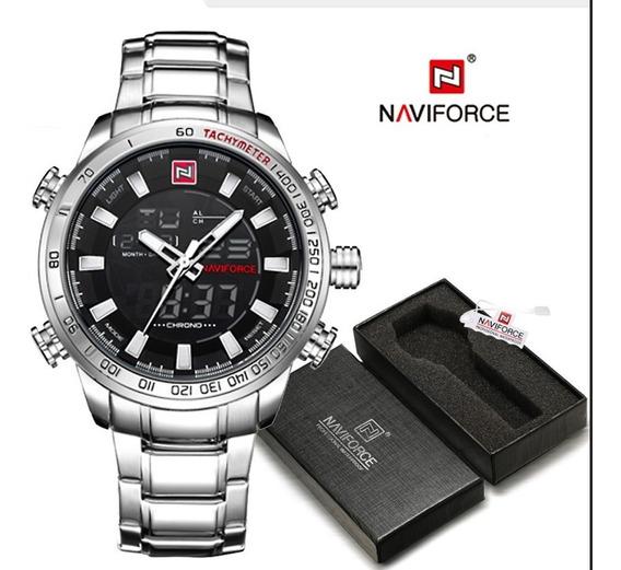 Relógio Naviforce Nf9093, Original, Aço Inoxidável, Na Caixa