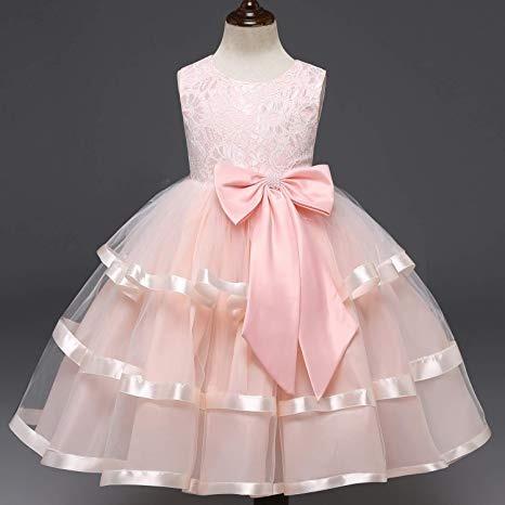 Vestido Para Niña Fiesta Boda Xv Princesa Rosa Completo