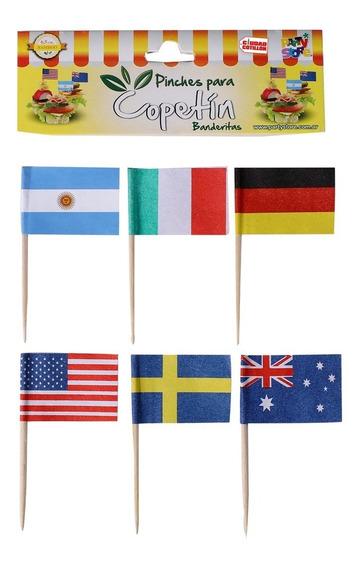 Pinche Banderitas X 50 Cupcake Copetín - Ciudad Cotillón