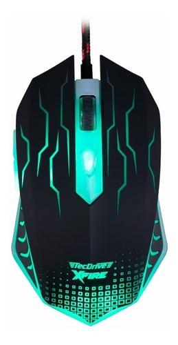 Mouse Gamer Tecdrive Xfire Wuxi 3200 Dpi 7 Botões Red + Nfe