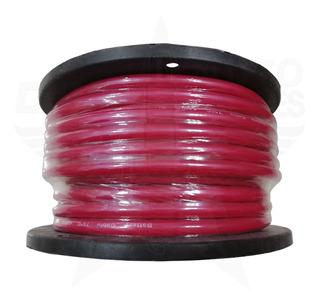 Rollo Cable Batería 30.5m Rojo O Humo Calibre 4 Electro