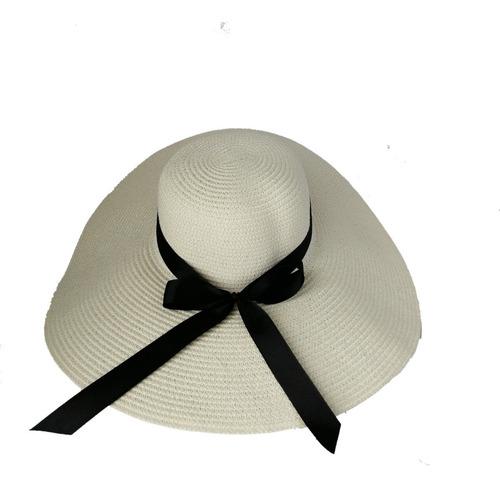 Sombrero Mujer Playa Pava En Nylon