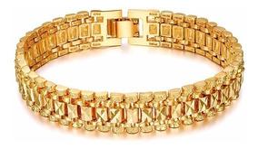 Pulseira Cor De Ouro Para Homens Mulheres Presente De Jóias
