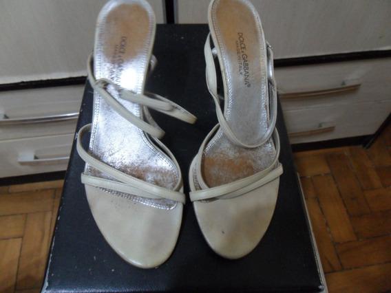 Sandalia Dolce & Gabbana Tamanho 38 Salto 9cm Italiana