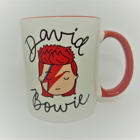 Caneca David Bowie Fundo Vermelho