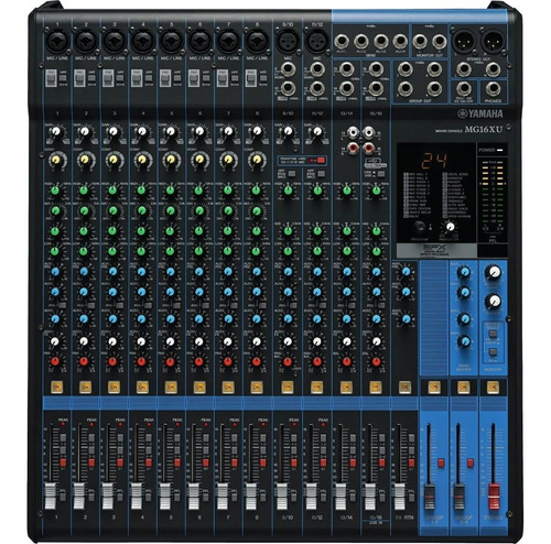 Yamaha Mg16xu  Mixer 16 Canais Usb E Efeitos + Nf + Garantia
