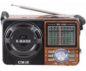 Caixa De Som Portátil 1088 Rádio Analógico Mp3 Usb Am Fm