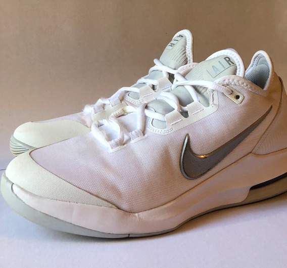 Tênis Nike Court Air Max Branco E Prata