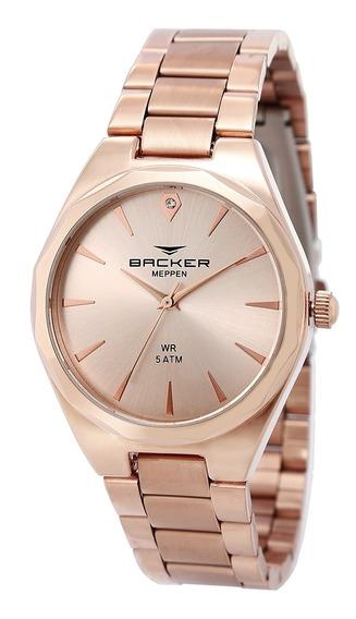 Relógio Masculino Backer Meppen 10432113m - Rosê