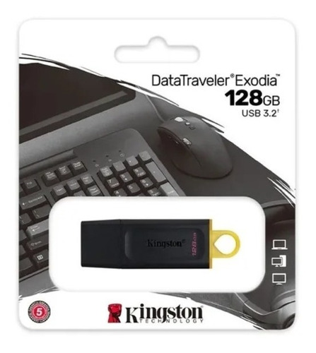 Pendrive 128gb Usb 3.0 Kingston Datatraveler G4