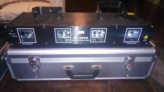 Laser Verde 4 Saidas Dmx + Hard Case