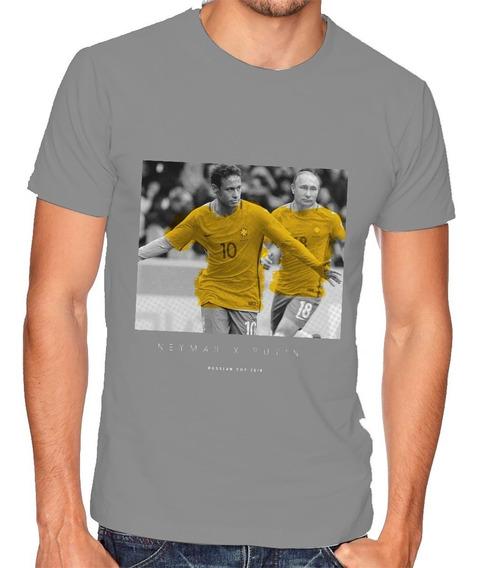 Camiseta Neymar X Putin - Copa Rússia 2018