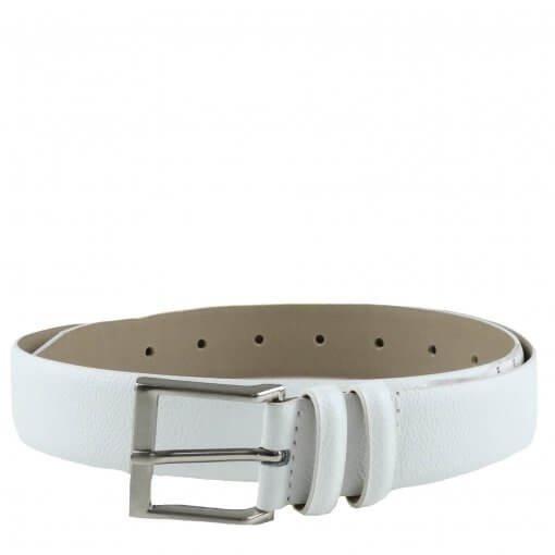 Cinto Zariff Shoes Em Couro Branco Z007143