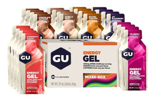 Gu Energy Gel - Con O Sin Cafeina. Original U S A - Caja X24