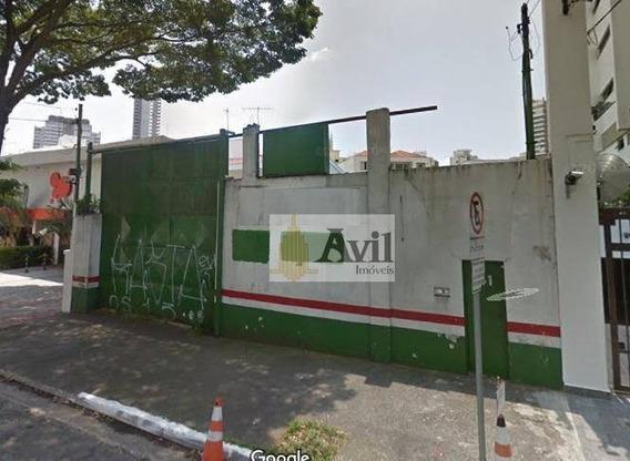 Terreno Para Alugar, 480 M² - Jardim Anália Franco - Te0053