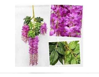 Decoración Artificial De Glicinias (12uds.violeta)