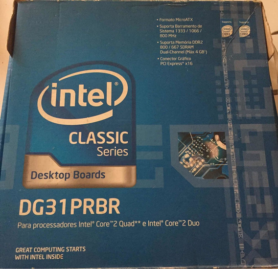 Kit Placa Mãe - Intel Dg31 Prbr