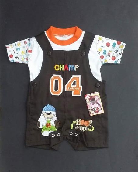 Overol Para Niño De 1 A 3 Años (2 Piezas, Playera Y Overol)