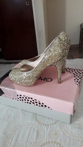 Zapatos Dorados Glitter