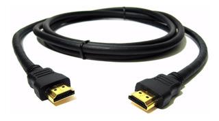 Cable Hdmi A Hdmi 1 M 1080p Full Hd Ficha Oro Tv Pc Lcd Led
