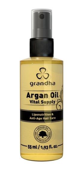 Grandha Argan Oil Vital Supply 55ml Óleo Hidratação Profunda