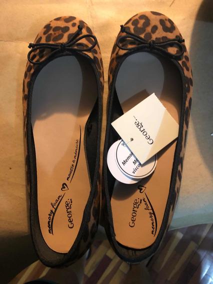 Flats O Zapatos De Muñeca Talla 7 Color Tipo Leopardo
