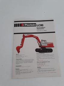 Folder Folheto Escavadeira Hidráulica Poclain Lc80 Case 1980